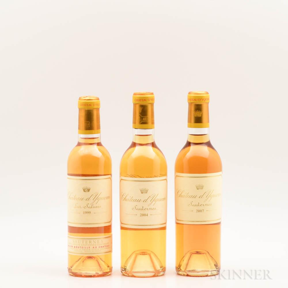 Chateau dYquem, 3 demi bottles