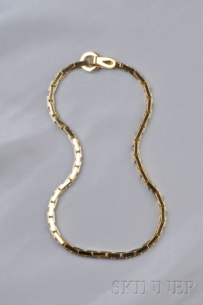 """18kt Gold """"Agrafe"""" Necklace, Cartier, Paris"""