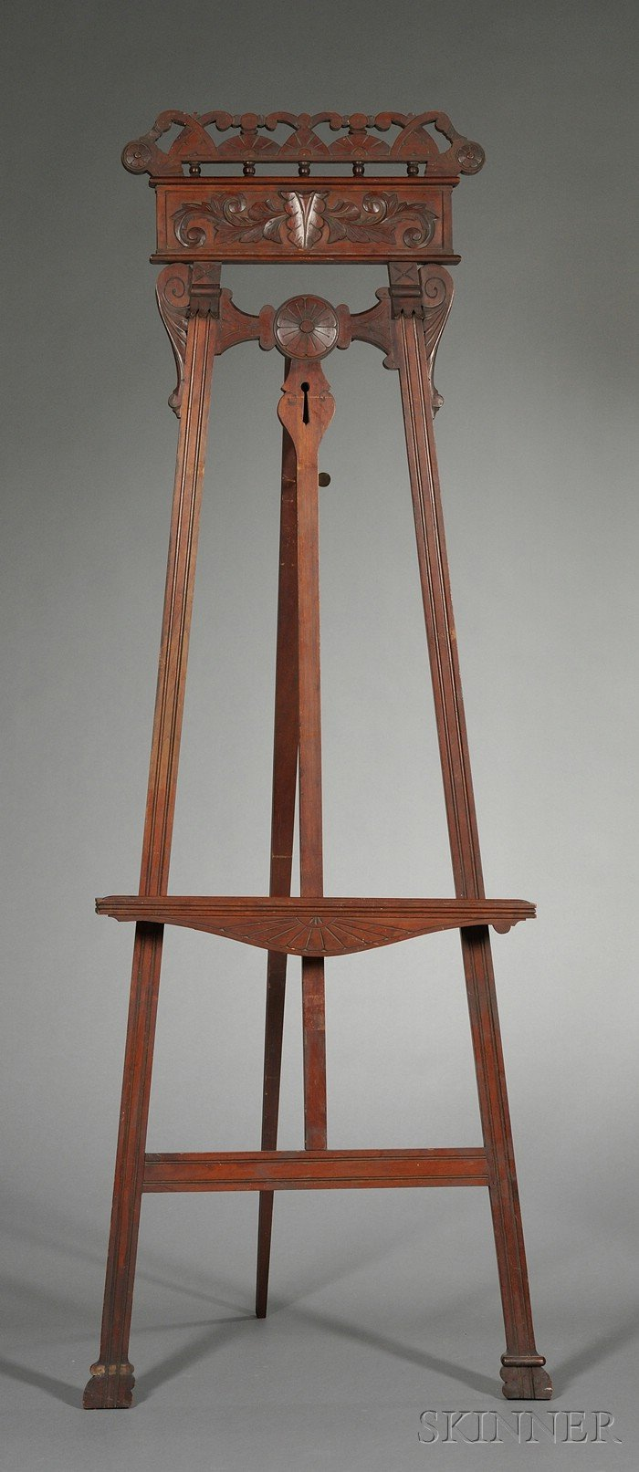 Renaissance Revival Carved Beechwood Painting Easel