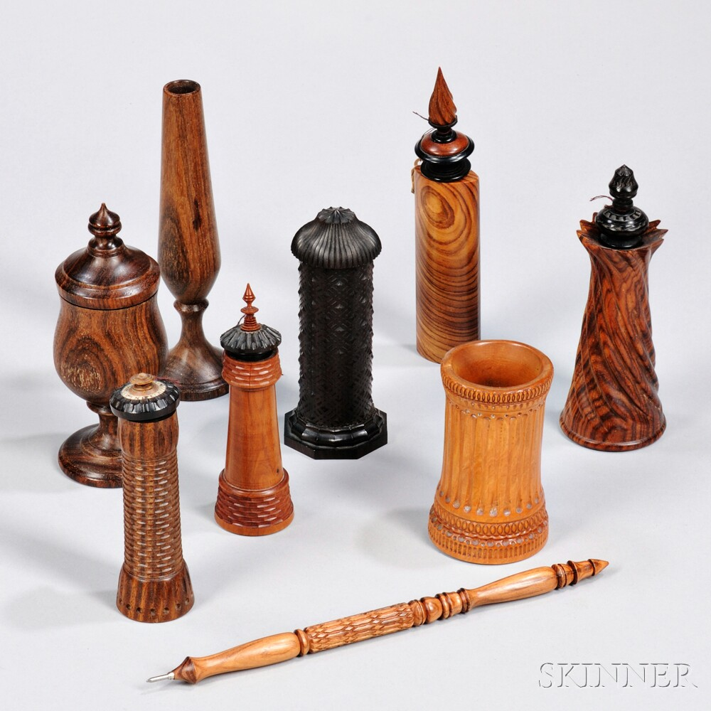 Collection of Ornamentally Turned Objects