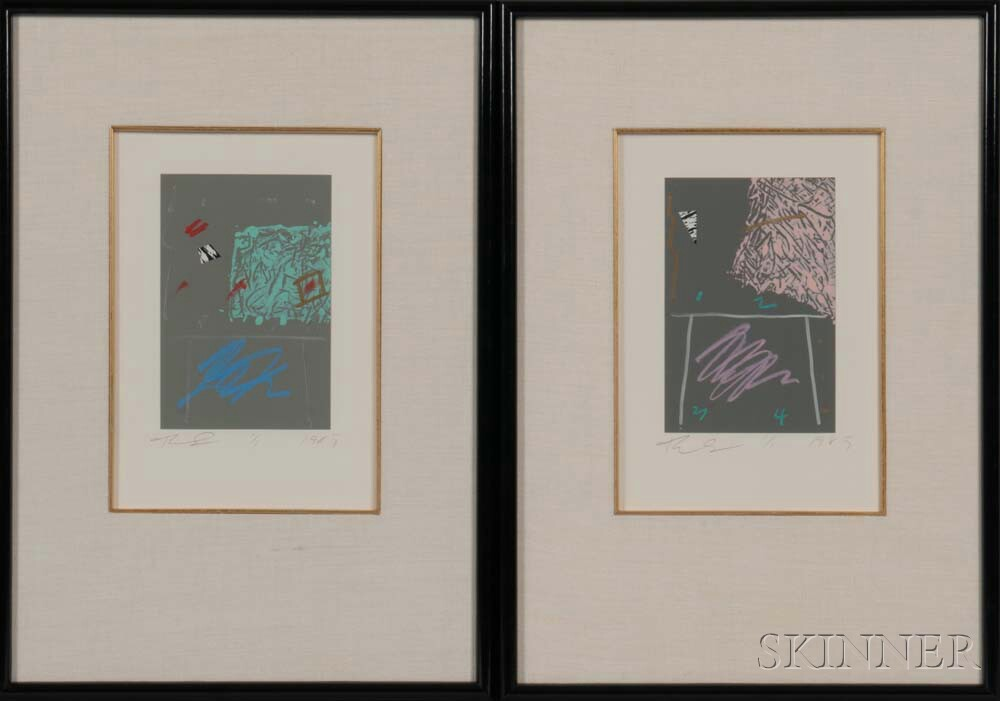 American School, 20th Century    Two Abstract Prints