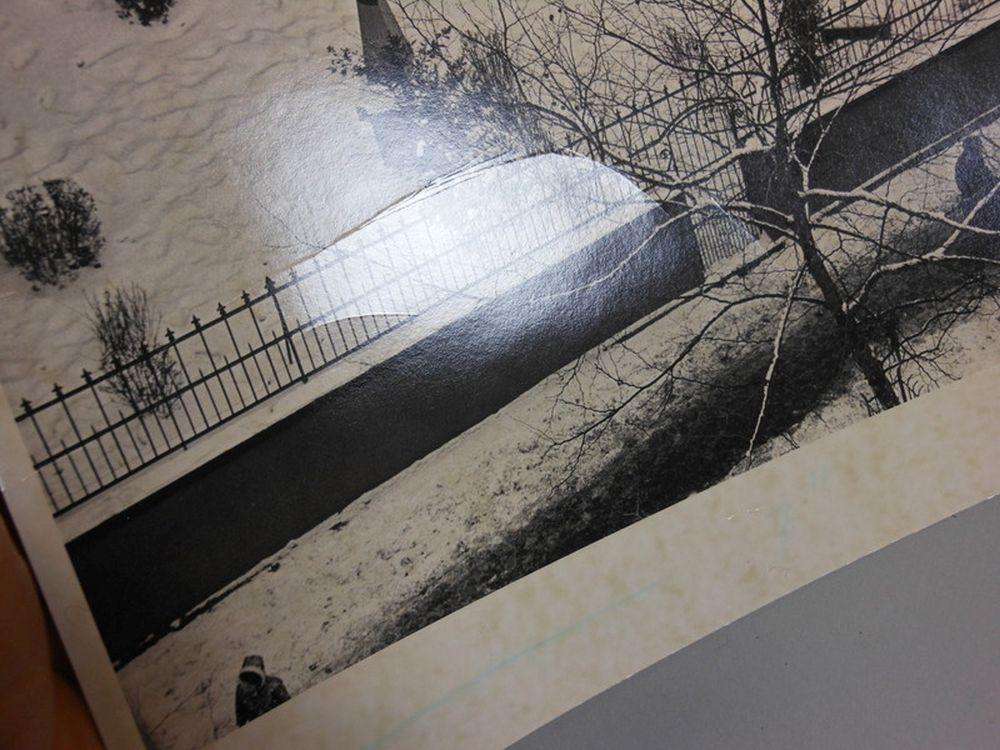 André Kertész (Hungarian/American, 1894-1985)      Snow-covered Graveyard with Pedestrians, New York