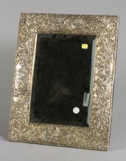 Aesthetic Movement-style Sterling Framed Dressing Table Mirror