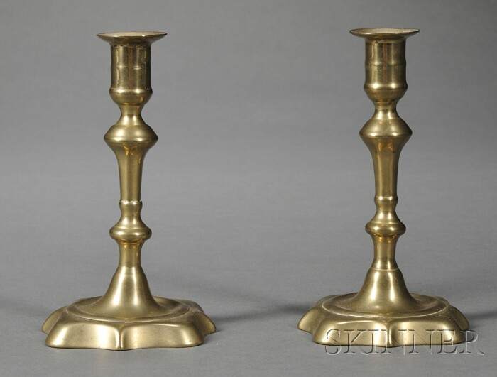 Pair of English Brass Candlesticks
