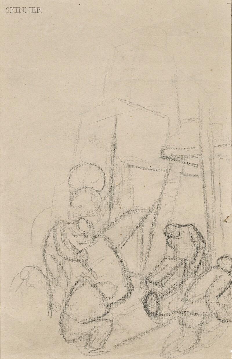 Thomas Hart Benton (American, 1889-1975)      Construction Scene