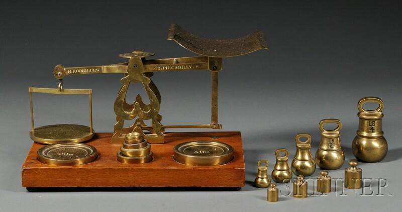English Brass Countertop Postal Scale