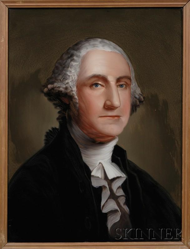 William Matthew Prior (American, 1806-1873)      Pair of Portraits of George and Martha Washington.