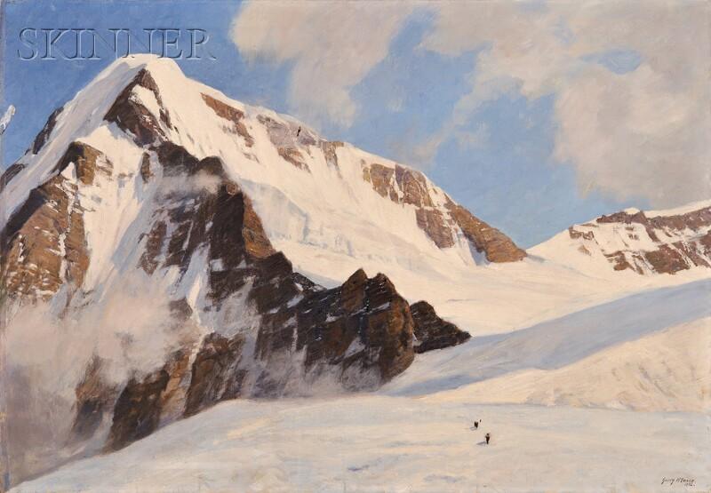 Georg Macco (German, 1863-1933)      Auf dem Jungfraujoch