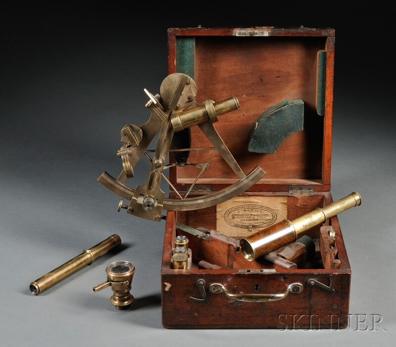 Boxed Brass Sextant