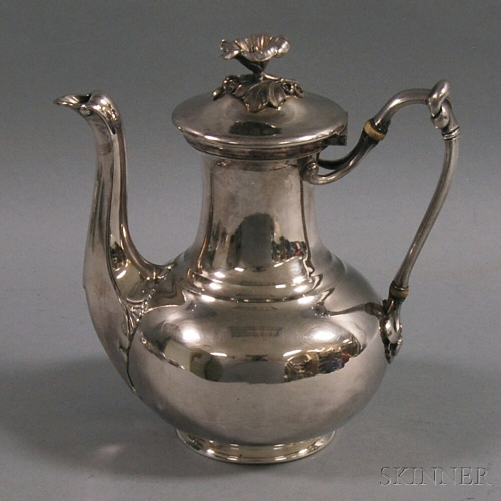 christofle silver plated coffeepot sale number 2733t lot number 1057 skinner auctioneers. Black Bedroom Furniture Sets. Home Design Ideas