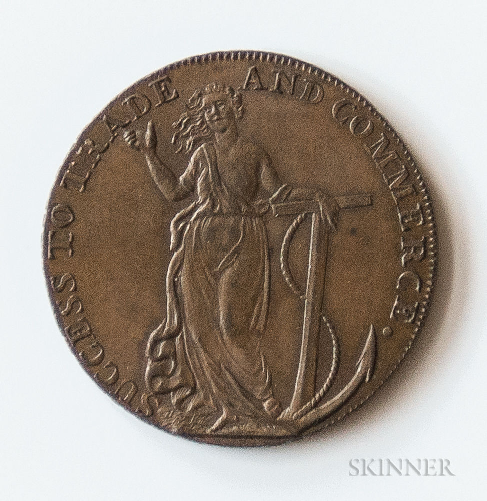 "1794 Braintree & Bocking ""Success To Trade And Commerce"" Halfpenny Conder Token, DH-4"
