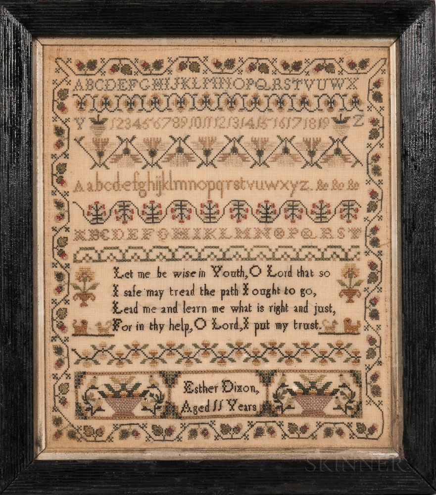 """Esther Dixon"" Needlework Sampler"
