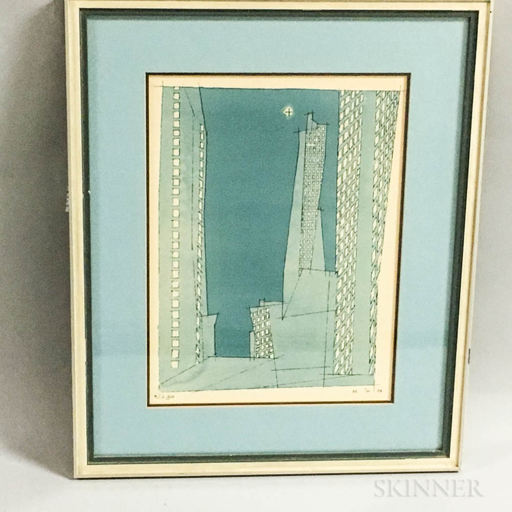 Framed Lyonel Feininger Photo-reproduction Print