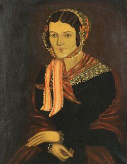 H. Hilliker (American, active 1846)  Portrait of a Lady