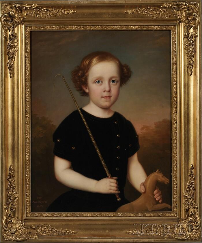 Carl Wilhelm Nordgren (Swedish, 1804-1857)      Portrait of Anselm Lundell