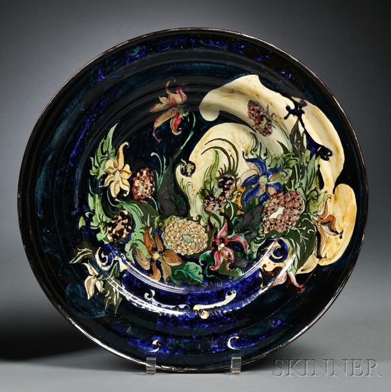 Rozenburg den Haag Gouda Pottery High Glaze Charger