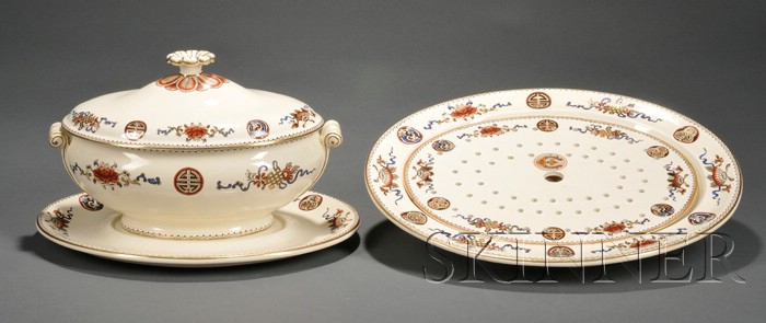 Two Wedgwood Queen's Ware Serving Items