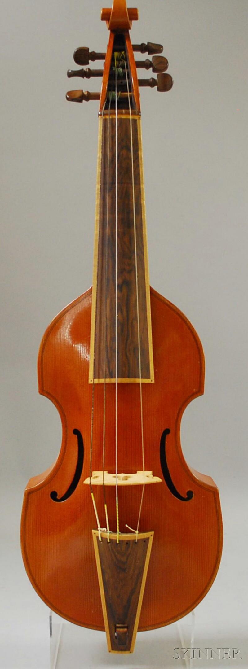 Modern Viola da Gamba, probably Mittenwald, c. 1960