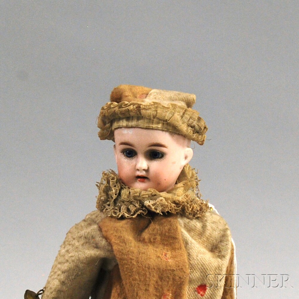 German Bisque Head Musical Jester Doll