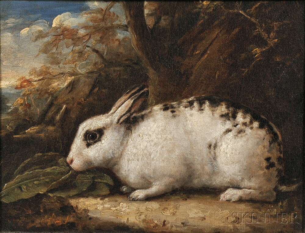 Attributed to James Ward (British, 1769-1859)      Black-spotted Rabbit in a Landscape