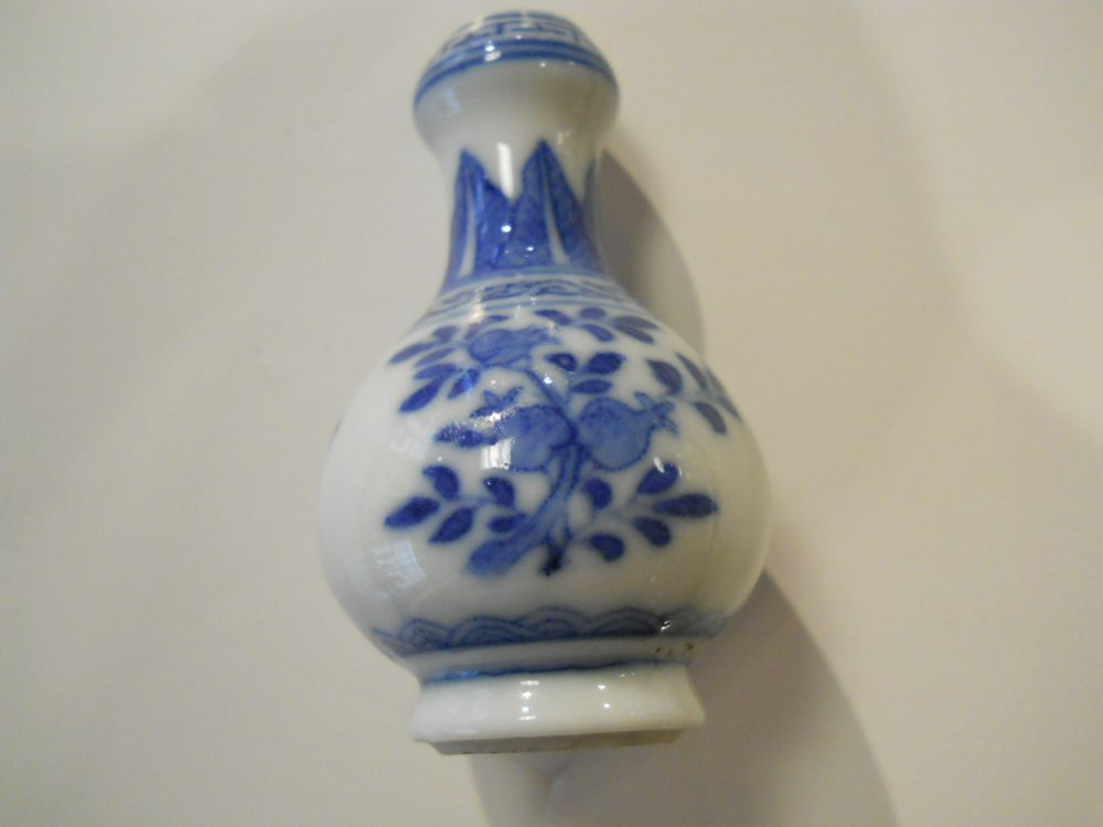 Five Export Blue and White Bottle Vases