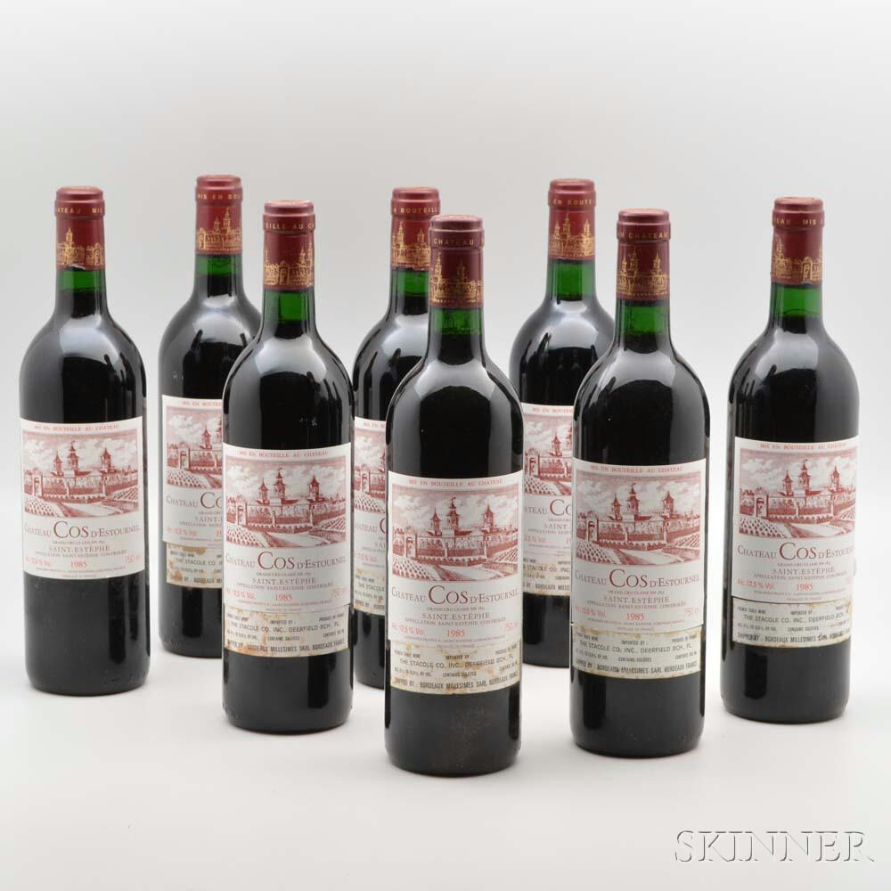 Chateau Cos dEstournel 1985, 8 bottles