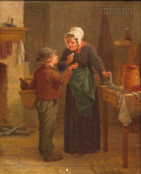 Charles F. Blauvelt (American, 1824-1900)      The Delivery Boy