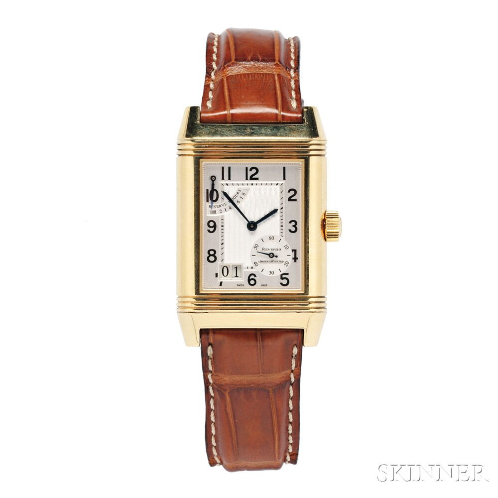 """Gentleman's 18kt Gold """"Reverso"""" Wristwatch, Jaeger-LeCoultre"""