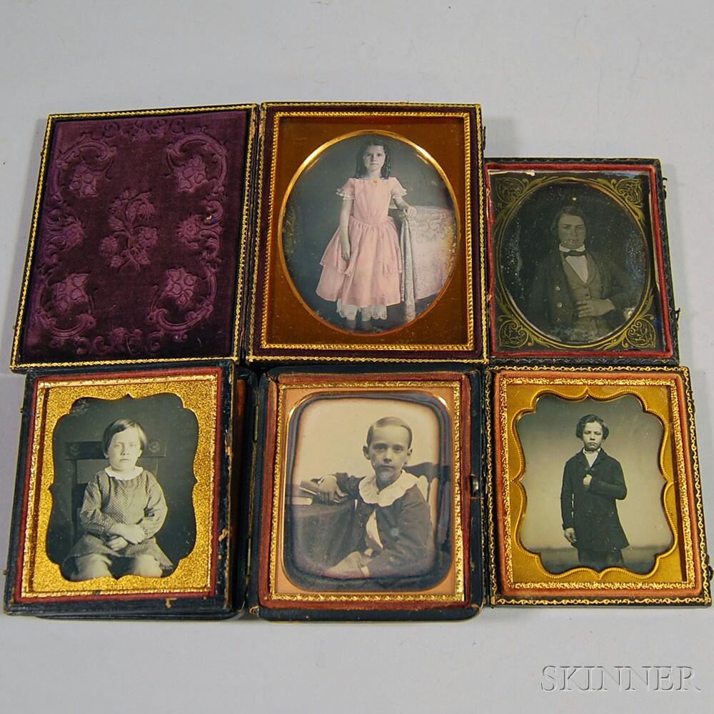 Five Daguerreotype Portraits of Children