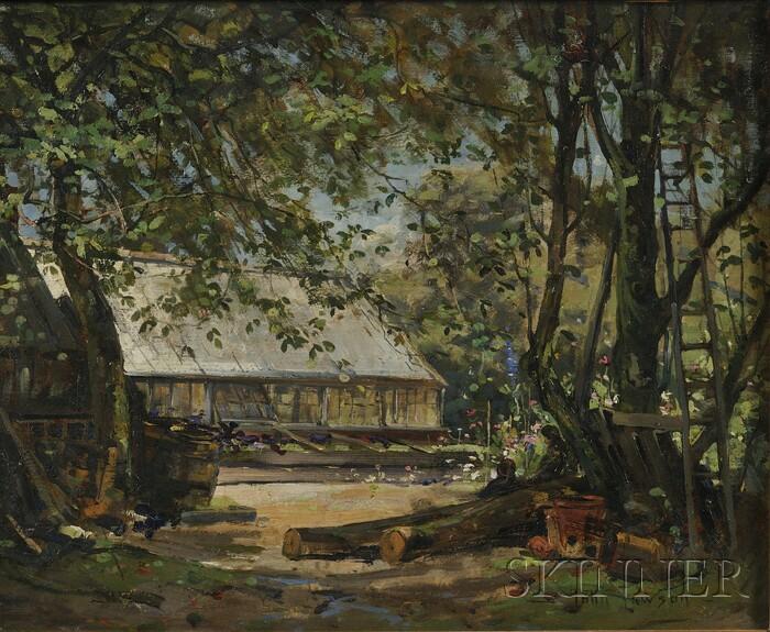 John Lawson (Scottish, 1868-1909)      A Woodland Garden