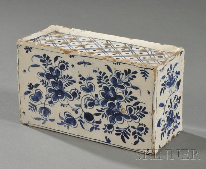 Blue and White Delft Flower Brick