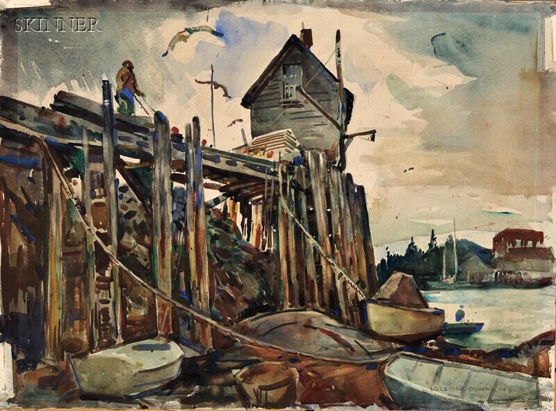 William Lester Stevens (American, 1888-1969)      Fish House, Vinalhaven, Maine