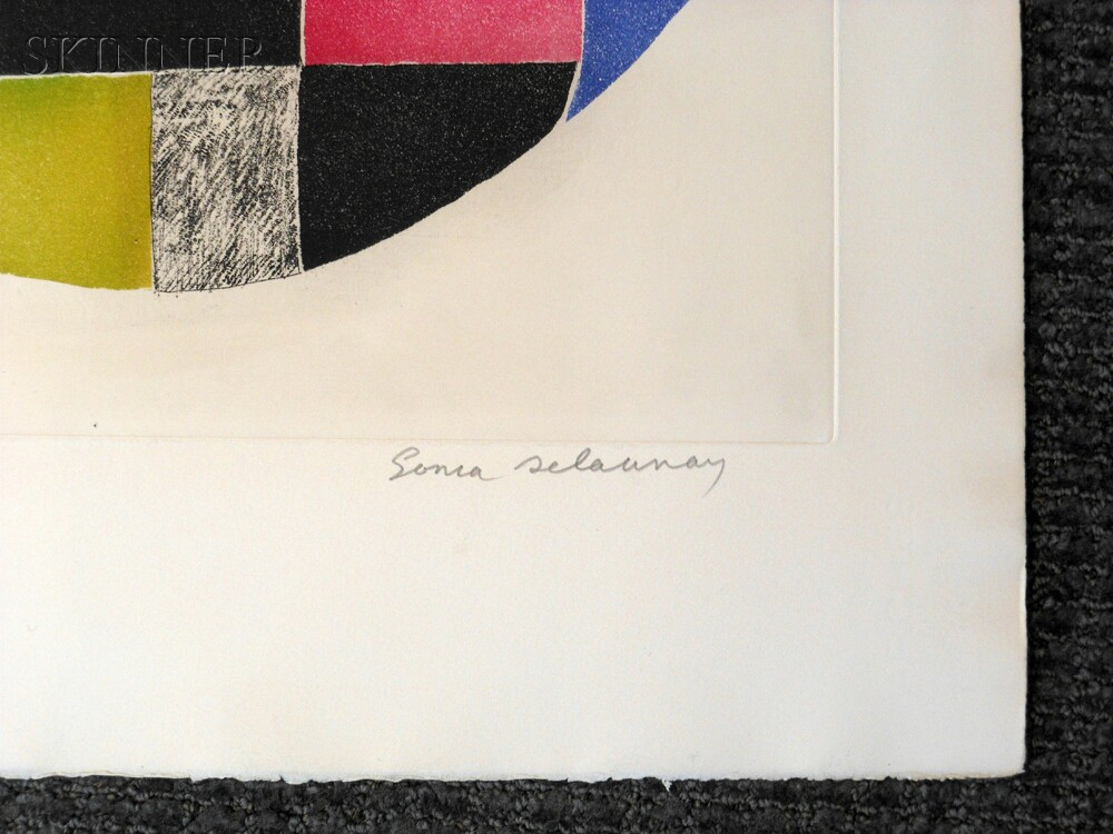 Sonia Delaunay-Terk (Ukrainian, 1885-1979)      Untitled.