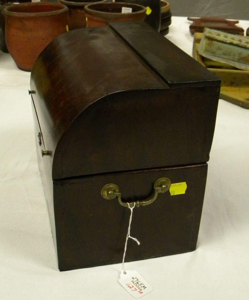 Mahogany Veneer Boxed Decanter Set