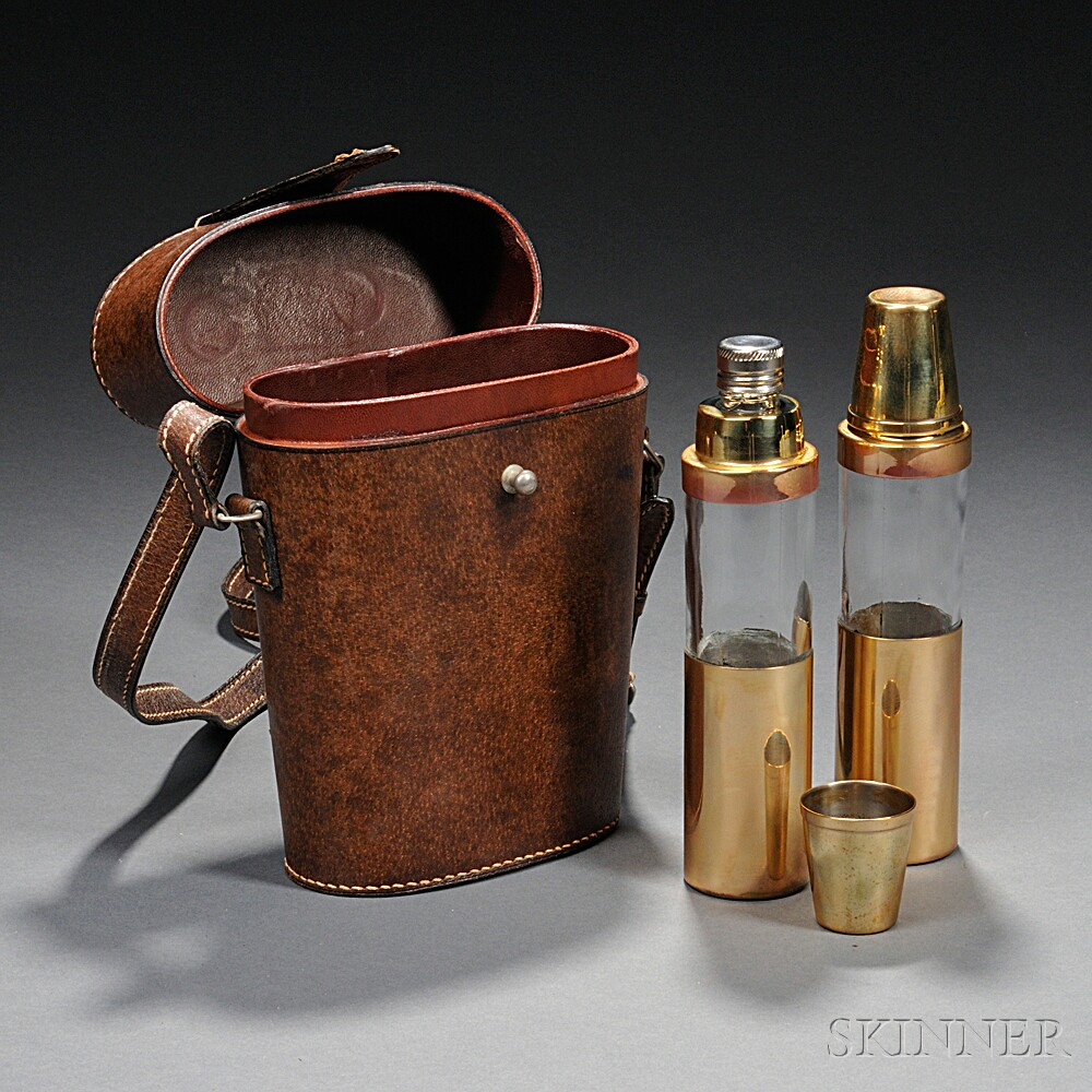 Gucci Cased Twin Flasks