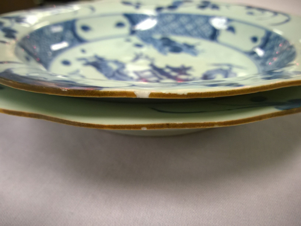 Sixteen Nanking Cargo Export Porcelain Plates and Bowls ...
