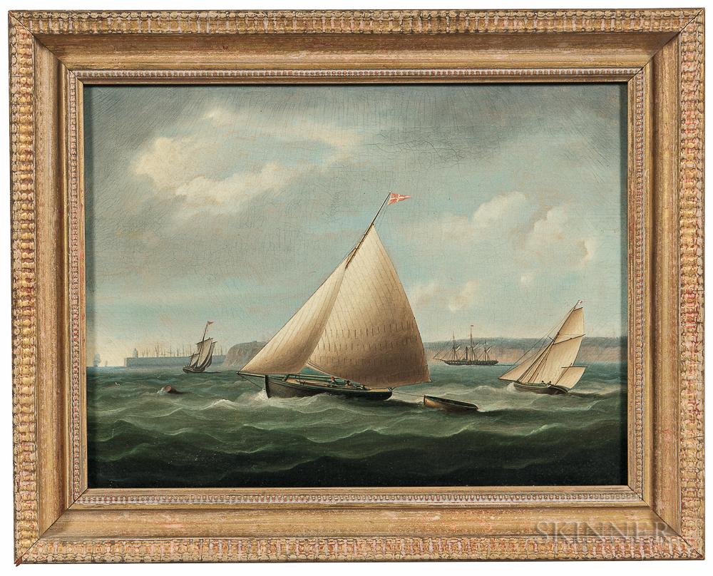 Thomas Buttersworth Jr. (British, 1797-1842)      Yachting off Torquay