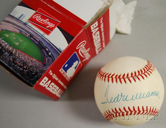 Ted Williams Autographed Baseball