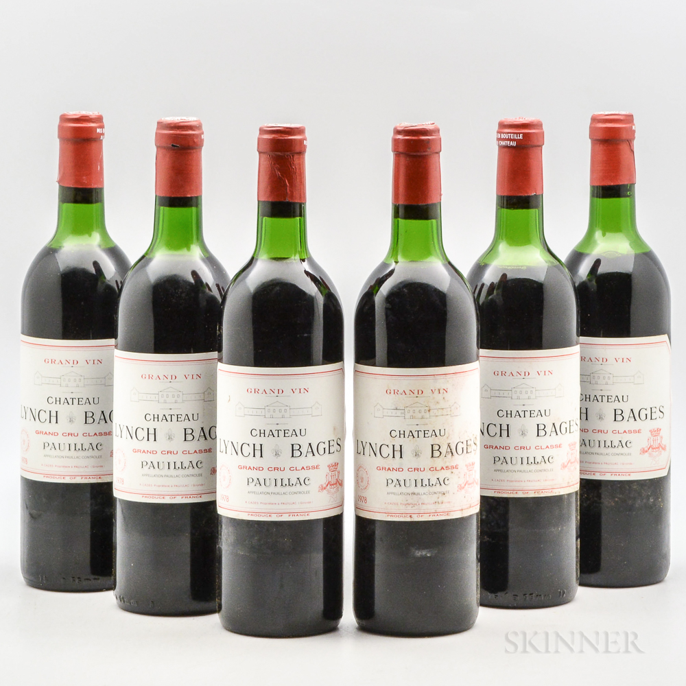 Chateau Lynch Bages 1978, 6 bottles