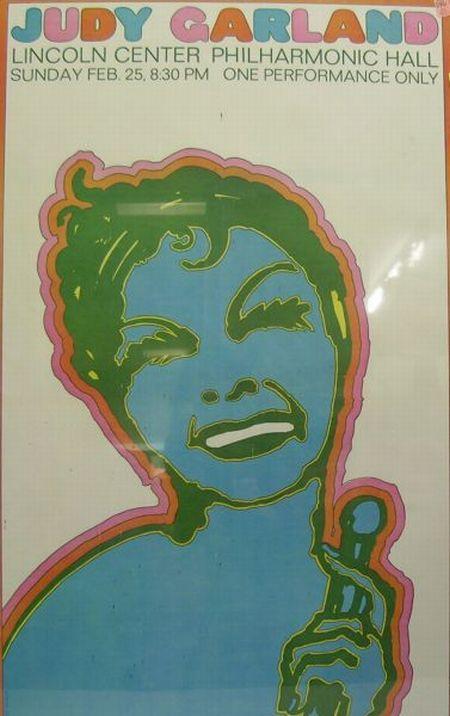 Judy Garland Chromolithograph Concert Poster