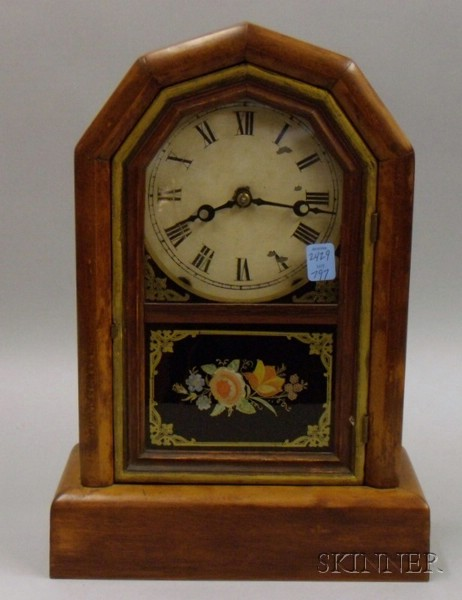 Mantel Clock with Eglomise Panel