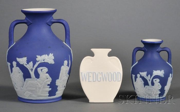 Three Wedgwood Portland Vase Related Items