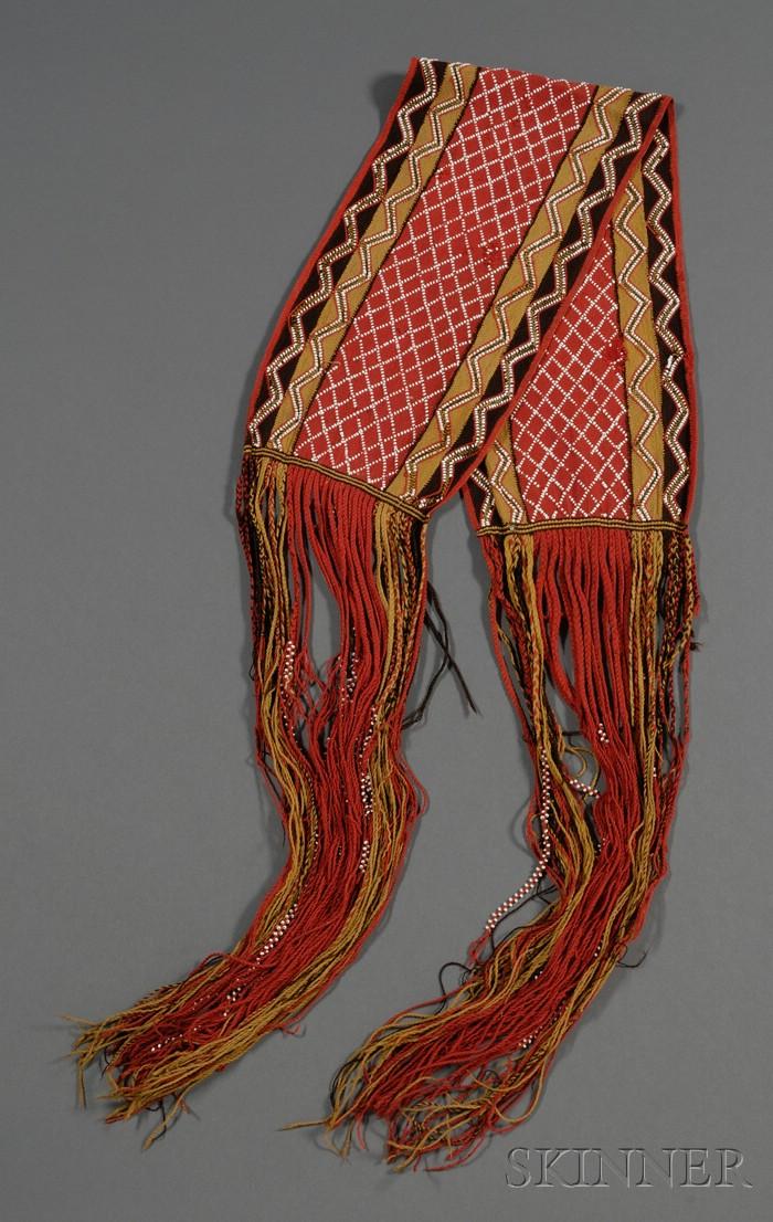 Great Lakes Finger-woven Wool Sash