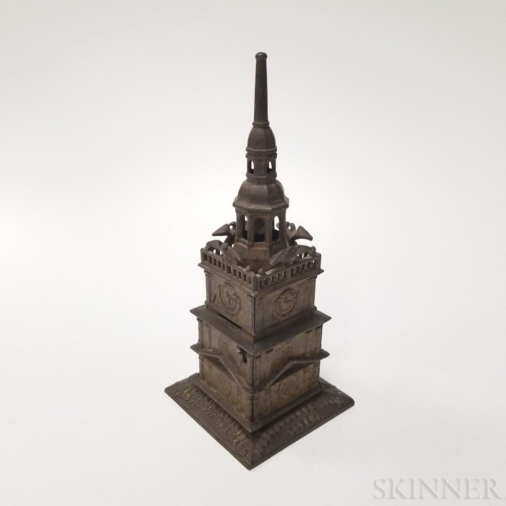 "Cast Iron ""Independence Hall Centennial"" Bank"