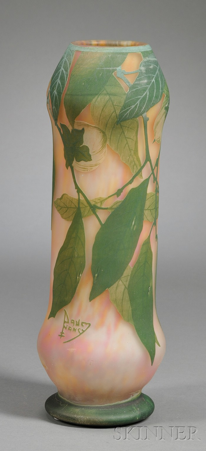 Daum Cameo Glass Vase