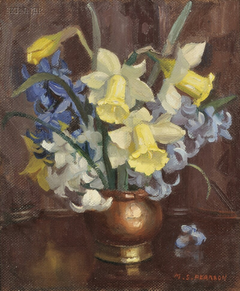 Marguerite Stuber Pearson (American, 1898-1978)      Daffodils and Hyacinth