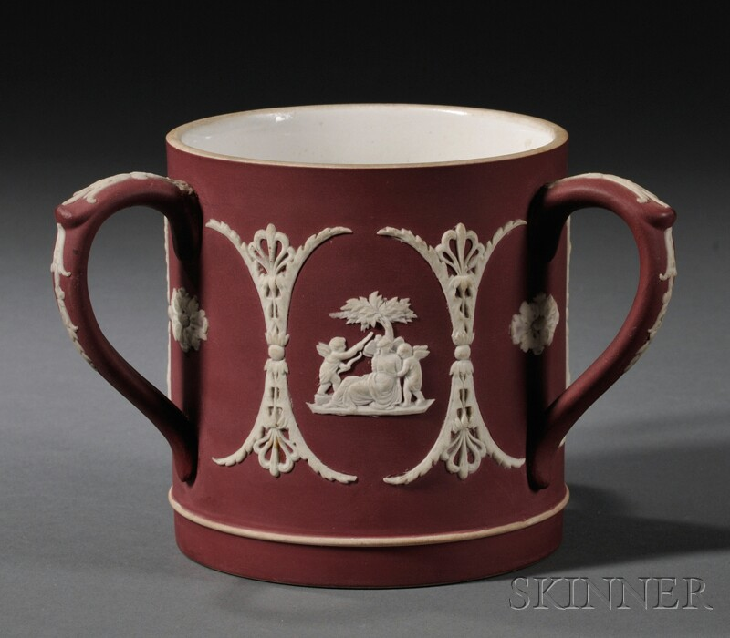 Wedgwood Crimson Jasper Dip Three-handled Cup