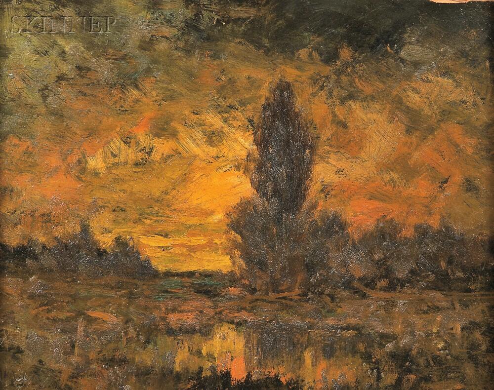 Alexander Helwig Wyant (American, 1836-1892)      Twilight