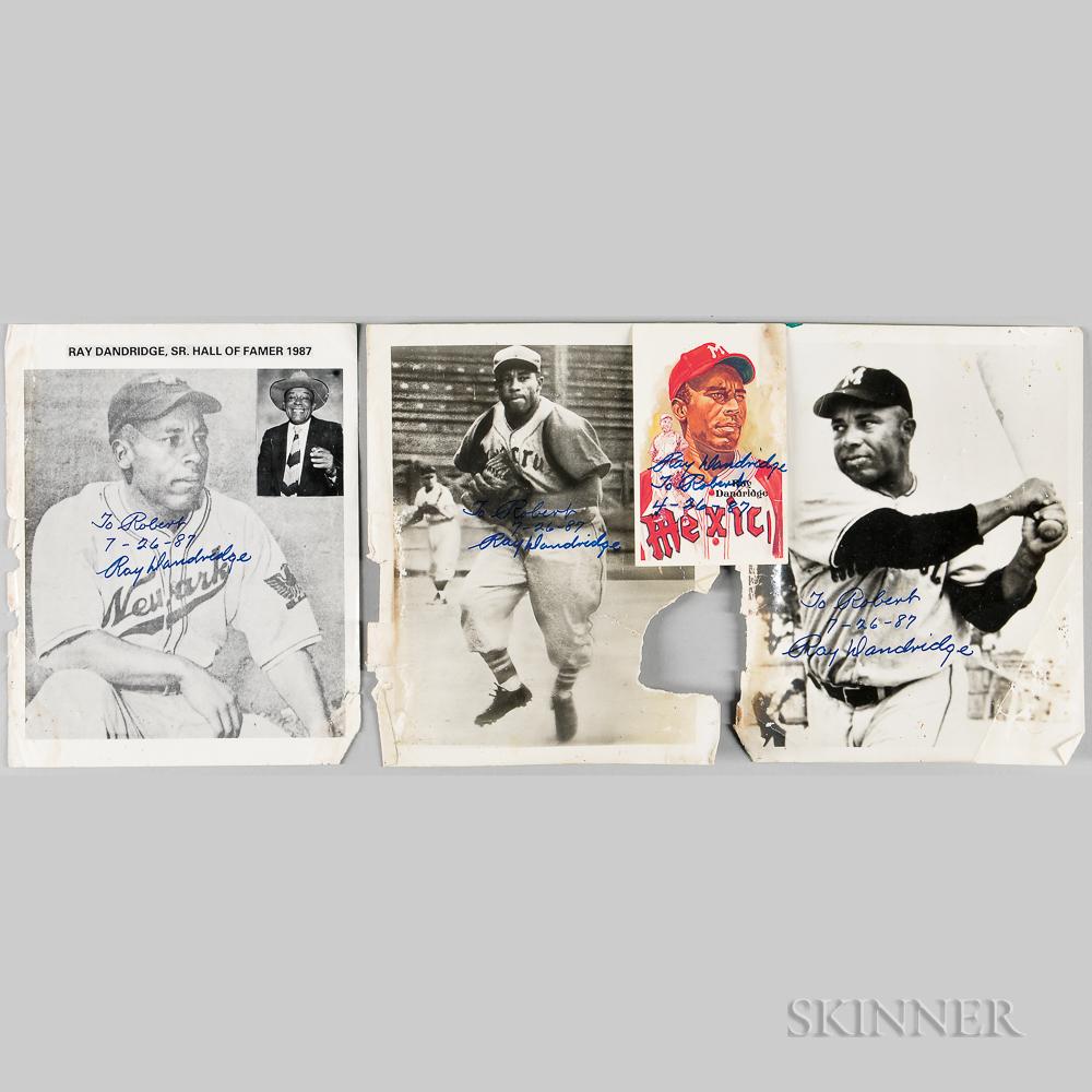 Four Ray Dandridge Autographed Photos and Postcard