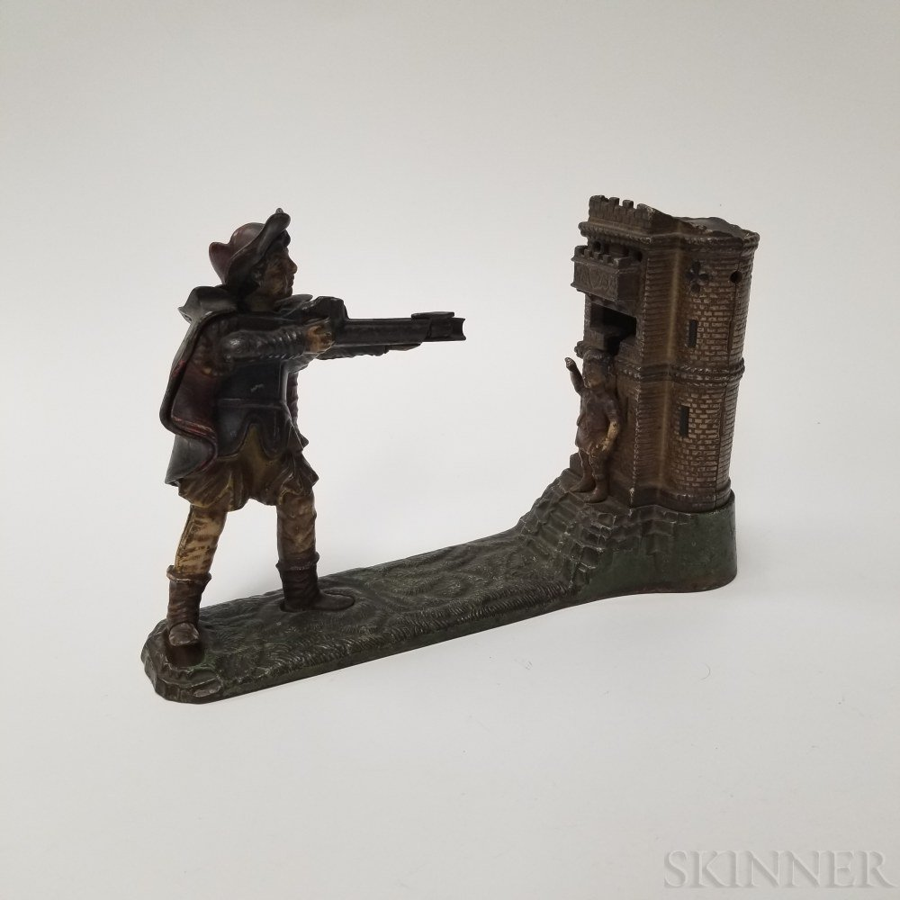 "Polychrome Cast Iron ""William Tell"" Mechanical Bank"